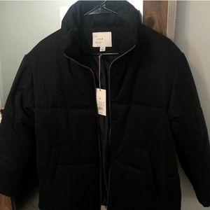 Black long sleeve puffer jacket from A New Day